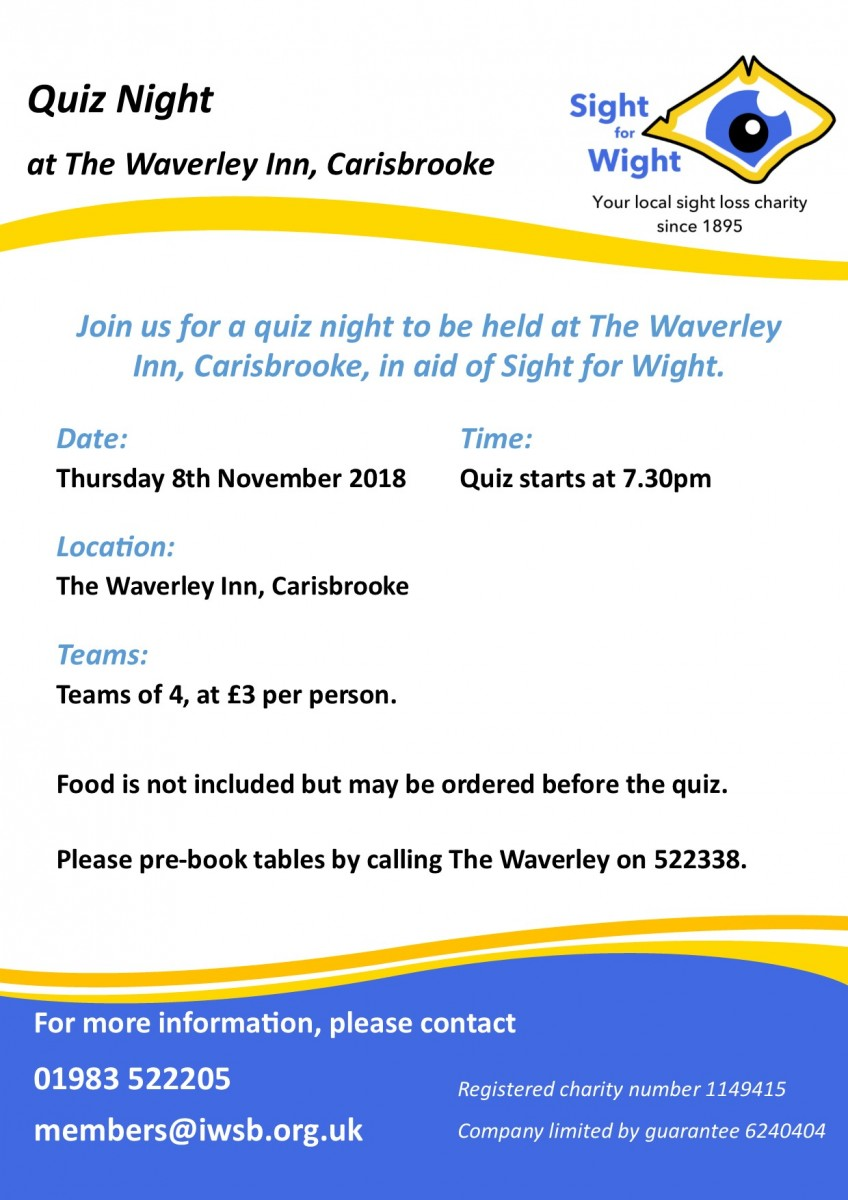 Waverley Inn Quiz Poster