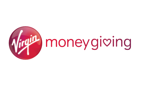 A picture of the Virgin money giving logo.