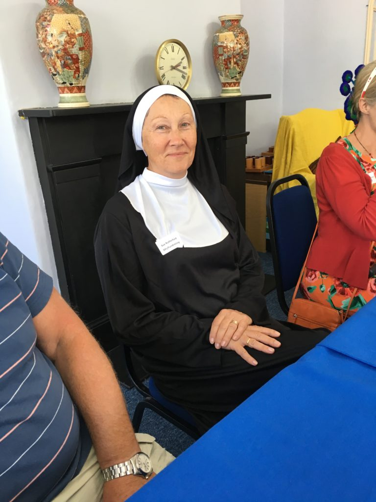 Sue in her Sound of Music 'Nun' costume!
