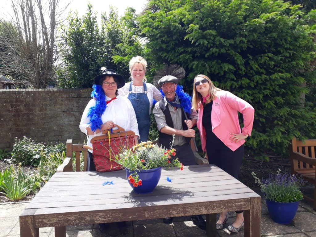 Staff dress up in costume from Mary Poppins, Mamma Mia and Grease!
