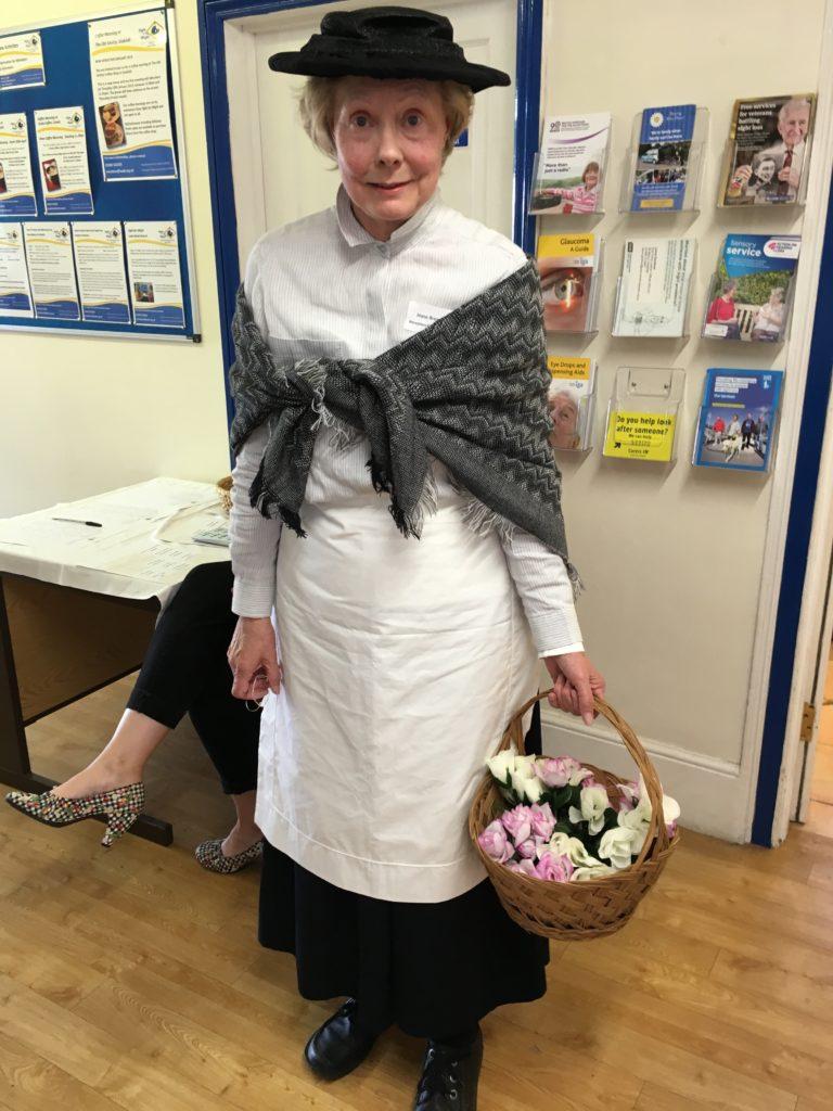 Joyce (Volunteer) dressed from My Fair Lady