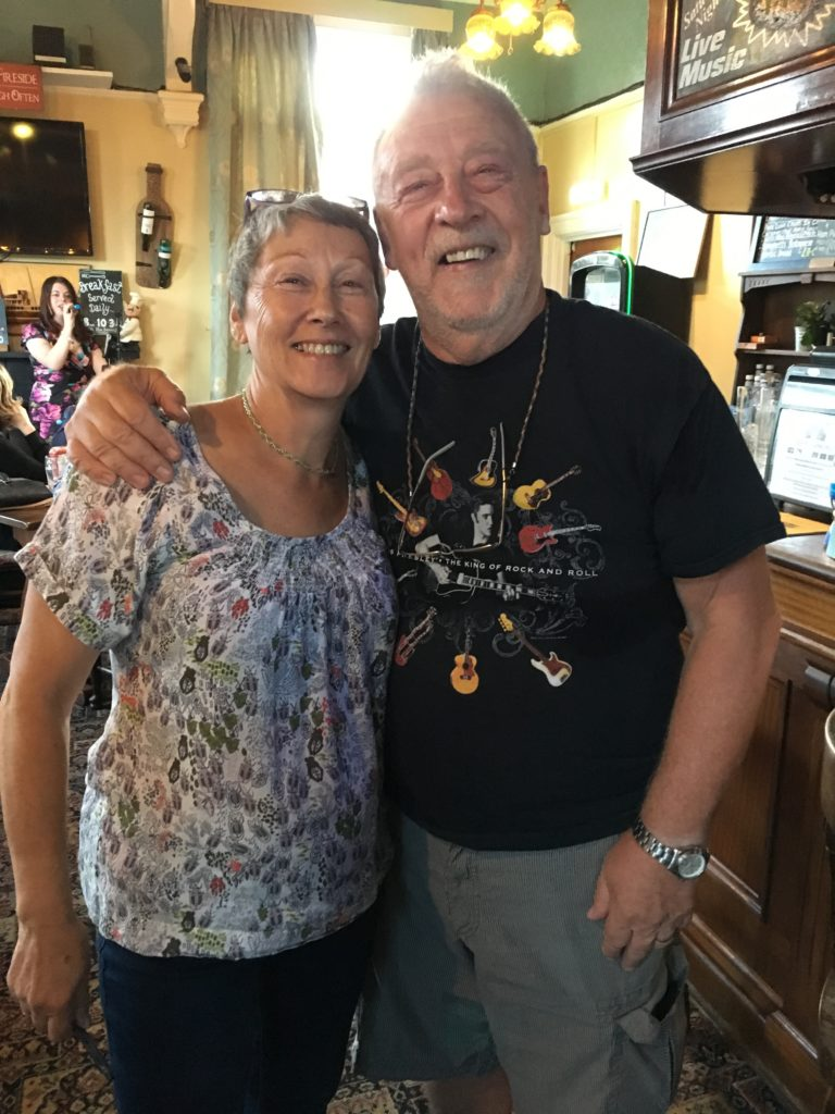 Quizmaster, Paul Rutherford, with his assistant, Sue.