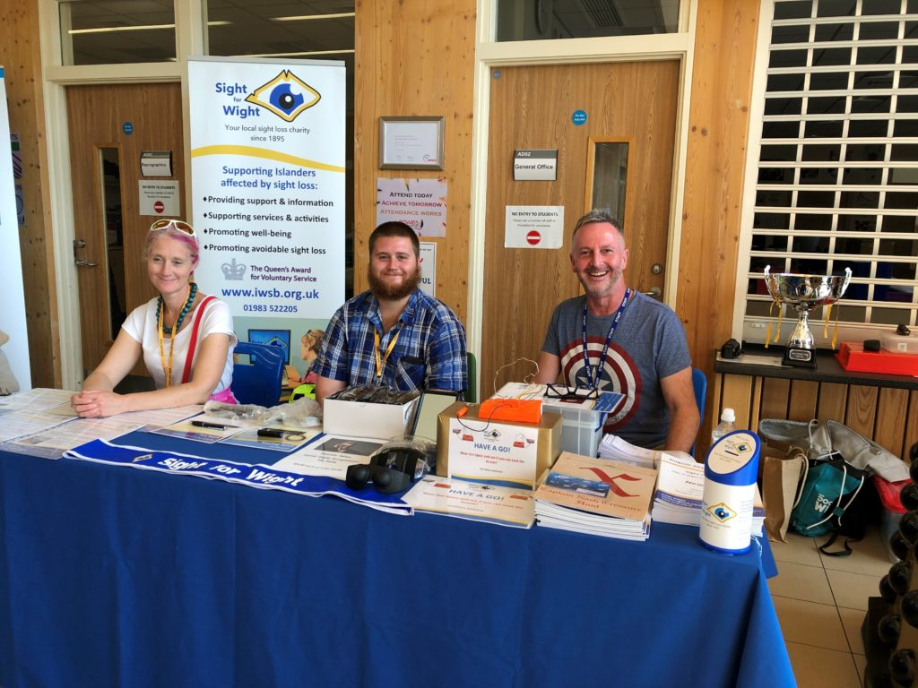 Ruth, Fletch & Chris at the Sight for Wight stall