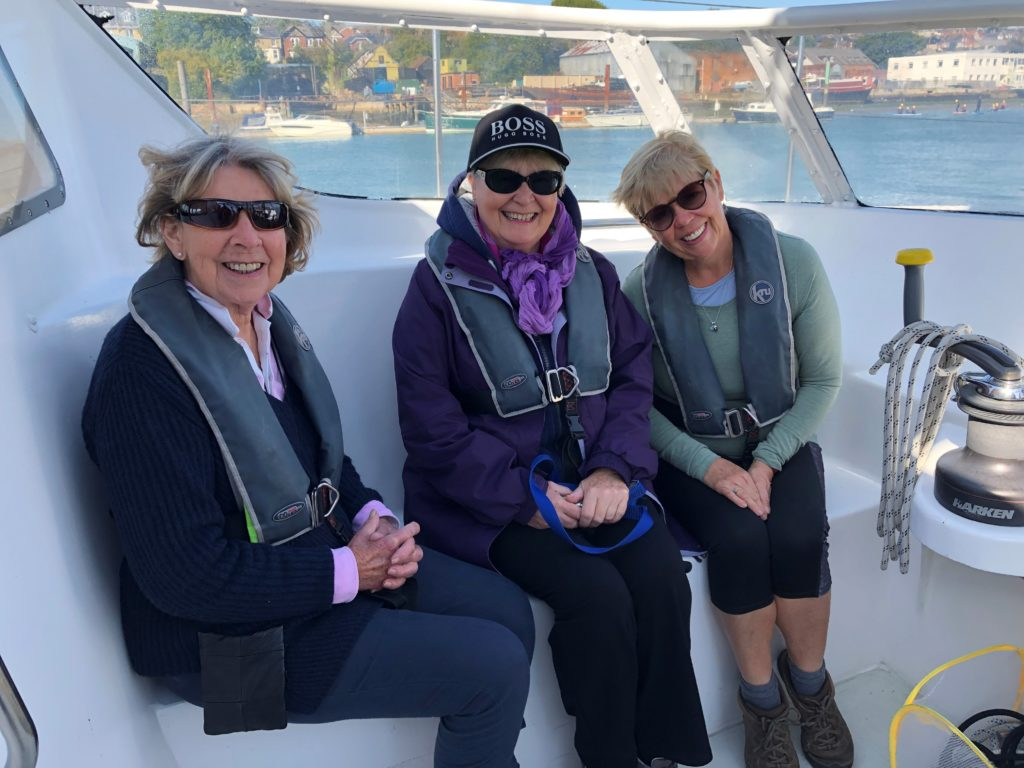 Members and our sighted guide, Christina, (pictured right) enjoy a life on the ocean waves