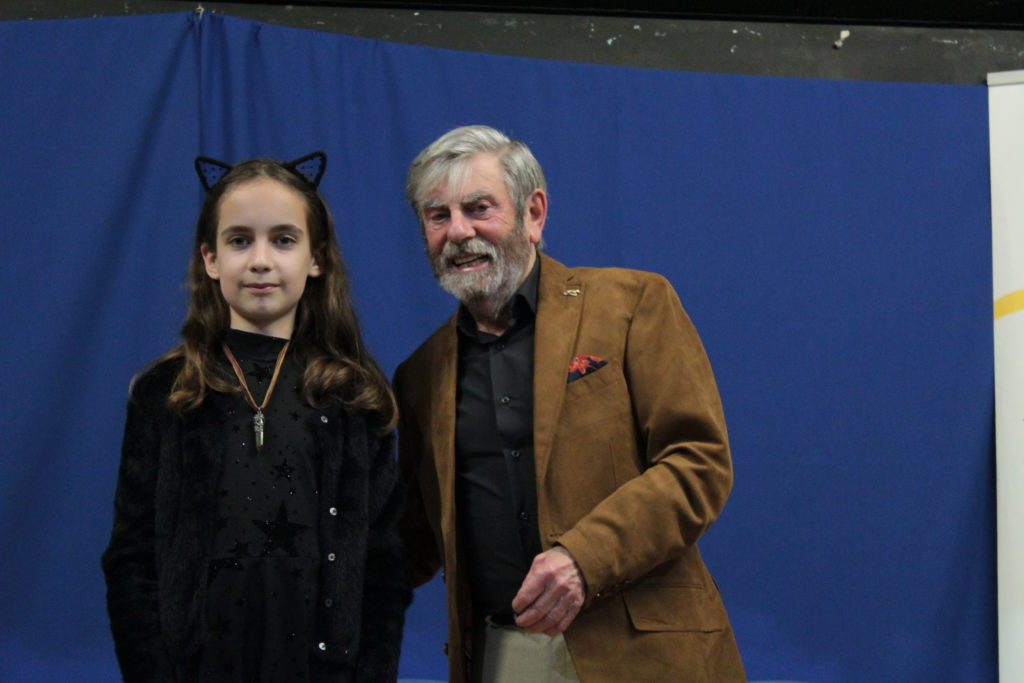 Runner up Hecate Crossley with Melvyn Hayes