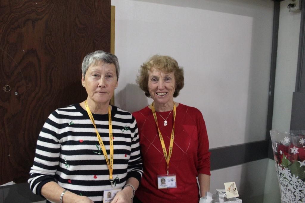 Volunteers Sue and Pauline