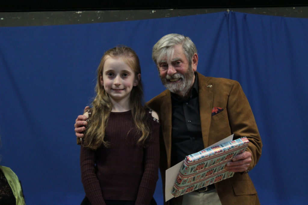 Runner up Isobel Woodford with Melvyn Hayes