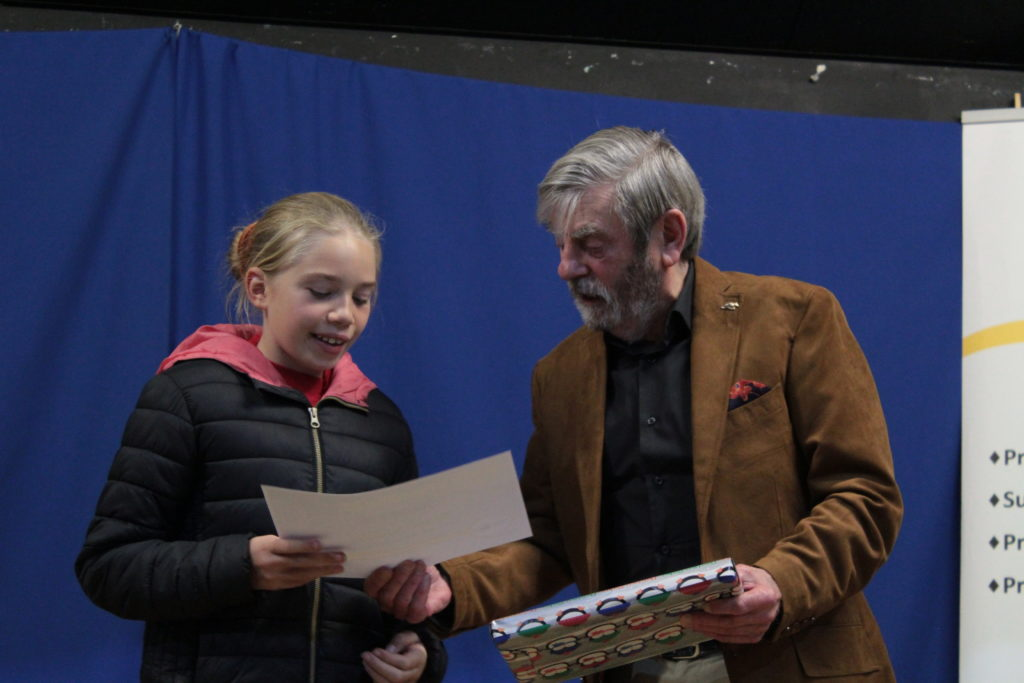 Runner up Nanci Phillips with Melvyn Hayes