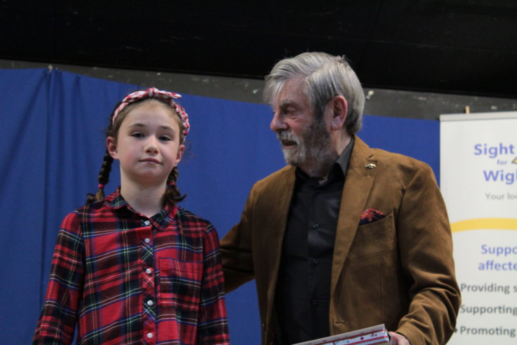 Runner up Ruby Jones with Melvyn Hayes