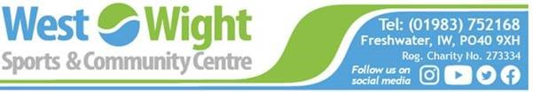 West Wight Sports & Community Centre Climbing Cancelled