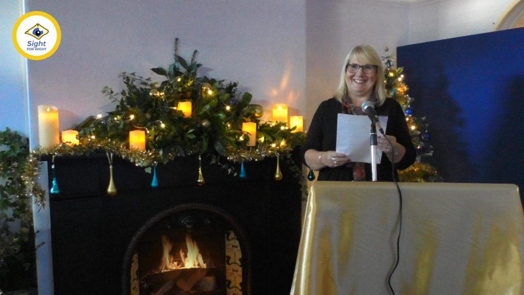 Elaine Bricknell (Befriending Manager) announces 12-17s winners