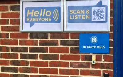 Newport Police Station Audible QR Code to Assist Visually Impaired