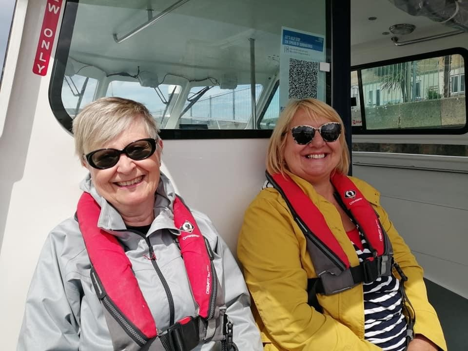 Member with Elaine (Sight for Wight Staff)